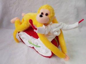 Gelber Affe auf Töff